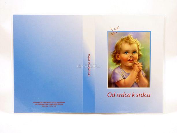 Obal: na detskú knižku Od srdca k srdcu - modrý
