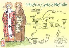 Omaľovánka - Príbeh sv. Cyrila a Metoda