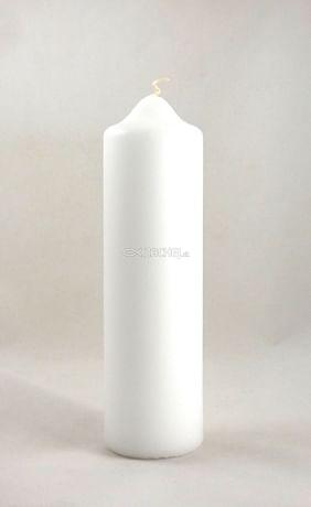 Sviečka: kostolná 250g - biela
