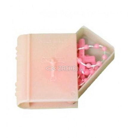 Ruženec: pre deti v krabičke-ružový (LR008)