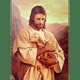 Obraz na dreve: Pán Ježiš s ovečkou (40x30)