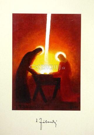 Pozdrav: Príchod Svetla z neba do Betlehema - bez textu (PZ010)