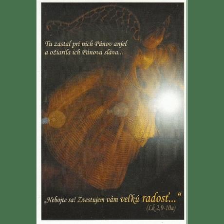 Pohľadnica vianočná/SF - Anjel (Tu zastal_pri_nich...)