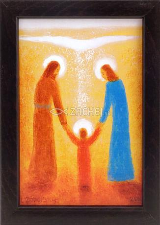 Obraz v ráme: Svätá rodina (15x10)