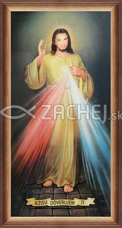 Obraz v ráme: Božie milosrdenstvo (76x41)