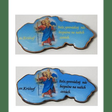 Samolepka: Sv. Krištof - mapa