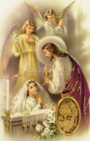 Kartička: sv. prijímanie - dievča (RCC 72 SK)
