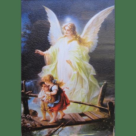 Obraz na dreve: Anjel strážny  (30x20)