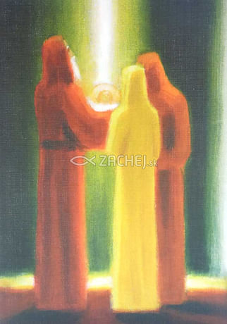 Pozdrav: Simeon predpovedá Márii utrpenie jej syna - bez textu