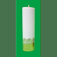 Sviečka: kostolná, olejová - biela (4006)