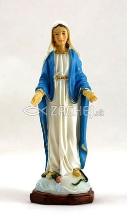 Soška: Panna Mária Zázračná medaila 12 cm (PB5177C)