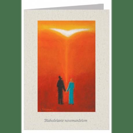 Pozdrav: Blahoželanie novomanželom - s textom (SB001)