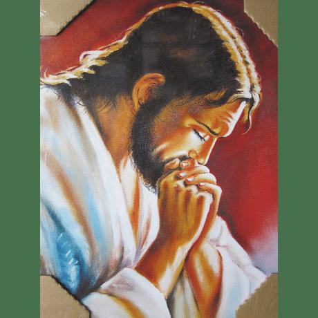 Obraz na dreve: Modliaci sa Pán Ježiš (40x30)