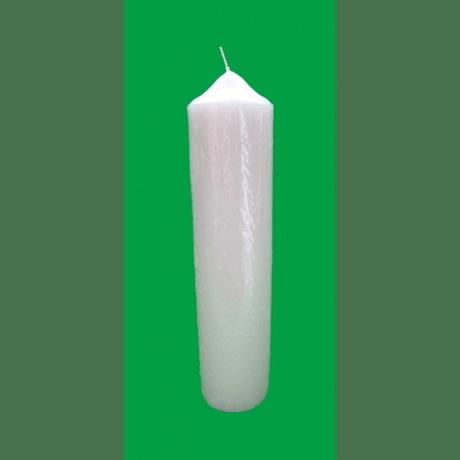 Sviečka: kostolná 650g - biela