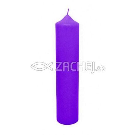 Sviečka: kostolná 700g - fialová