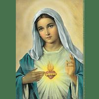 Obraz na dreve: Srdce Panny Márie (15x10)