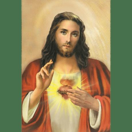 Obraz na dreve: Srdce Pána Ježiša (15x10)
