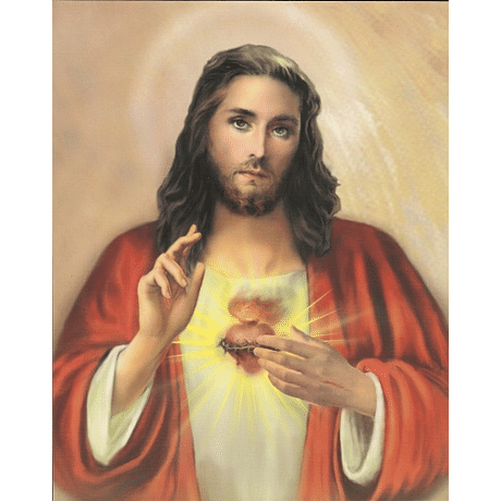 Obraz na dreve: Srdce Pána Ježiša (25x20)