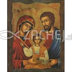Obraz na dreve: Svätá rodina - ikona (40x30)