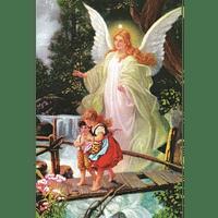 Obraz na dreve: Anjel strážny (40x30)