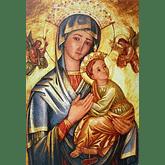 Obraz na dreve: Matka ustavičnej pomoci - ikona (40x30)