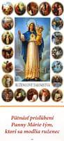 Záložka: Prisľúbenia Panny Márie tým, ktorí sa modlia ruženec