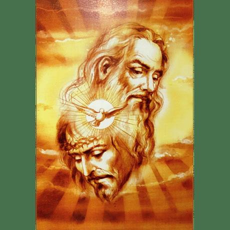 Obraz na dreve: Sv. Trojica (40x30)