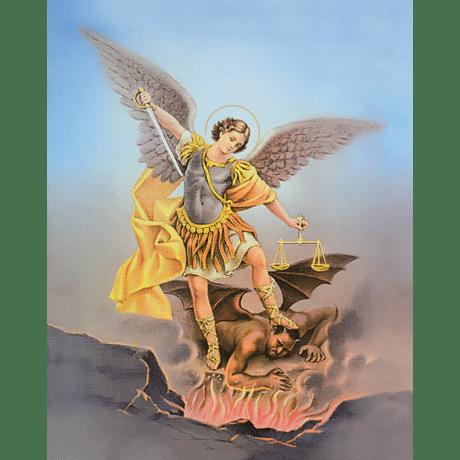 Obraz na dreve: Sv. Michal archanjel [1] (25x20)