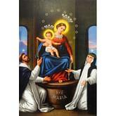 Obraz na dreve: Panna Mária z Pompejí (40x30)