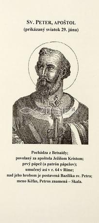 Záložka: Sv. Peter, apoštol + litánie