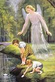 Obraz na dreve: Anjel strážny (15x10) (2/Z)