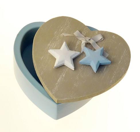 Šperkovnička: srdiečko - modré  (33305)