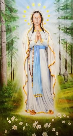 Obraz na dreve: Panna Mária Turzovská (45x25)