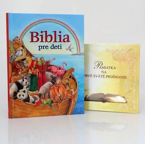 Sada: Biblia pre deti + Pamiatka na prvé sväté prijímanie