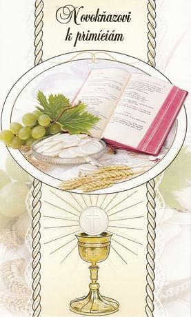 Pozdrav: Novokňazovi k primíciám, s textom (15-128)