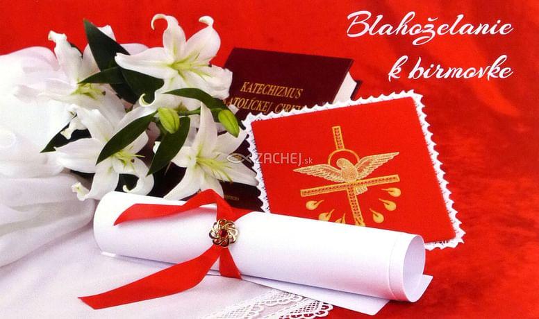 Pozdrav: k birmovke - s textom (15-125)