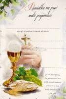 Pamätný list: Pamiatka na 1. sväté prijímanie (Z-biela)