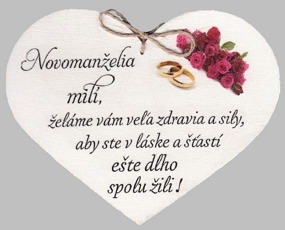 Drevené srdce: Novomanželia milí (1)
