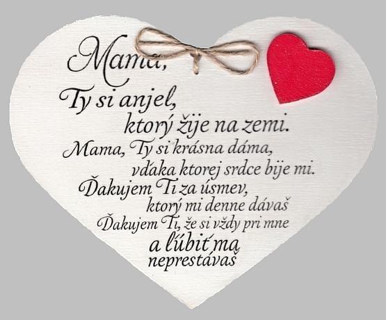 Drevené srdce: Mama, Ty si anjel...