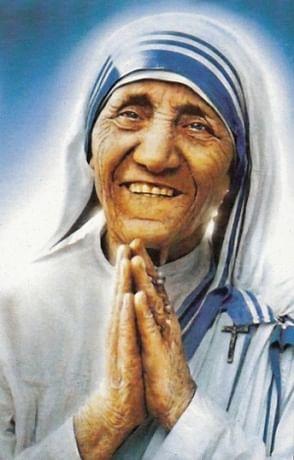 Obraz na dreve: Matka Tereza (10x6,5)