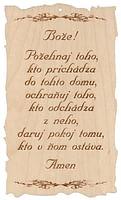 Citát na dreve: Bože! Požehnaj toho... (93)