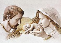 Obraz na dreve: Svätá rodina (40x30)