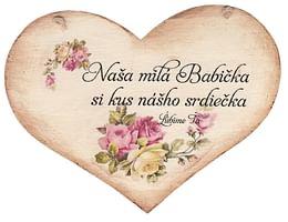 Drevené srdce: Naša milá Babička...