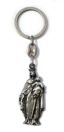 Kľúčenka: Panna Mária Škapuliarska, kovová (K1936S)