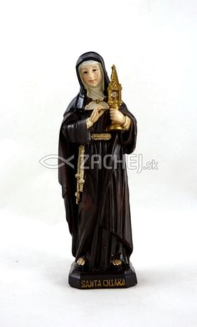 Soška: Svätá Klára - 12 cm (PB0372)