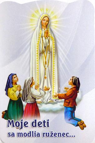 Skladačka: Moje deti sa modlia ruženec...
