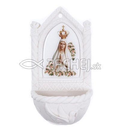 Svätenička: Panna Mária Fatimská - alabaster (606-JF2)
