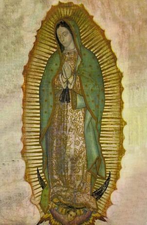 Obraz na dreve: Panna Mária Guadalupská (15x10) (ODZ016)