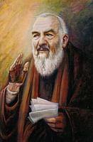 Obraz na dreve: Sv. Páter Pio (15x10) (ODZ013)