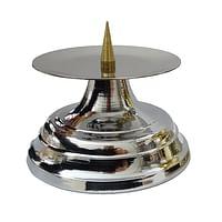 Svietnik: kovový - strieborný (03121)